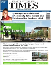 ASDA Wraparound Advert on Barnet Times 28 May 2009 - Front Page