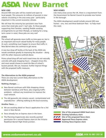 ASDA Wraparound Advert on Barnet Times 28 May 2009 - Back Page