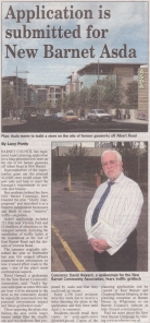 Barnet Press Article 5th March 2009