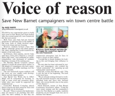 Barnet Times Article 2nd December 2010