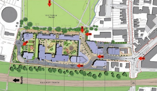Key to locations of Artists Impressions of ASDA Development