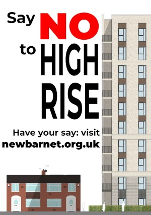 Say NO to high rise poster